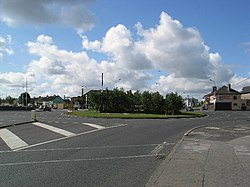 The Walkinstown roundabout, leading into Walkinstown town