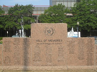 Smith County, Texas - Smith County veterans display, the Wall of Memories, in the Tyler plaza