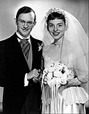 Wally Cox Patricia Benoit Mr. Peepers wedding 1954.JPG