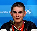 Walton Eller at press conference after winning 2008 Summer Olympics double trap.jpg