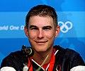 Walton Eller at press conference after winning 2008 Summer Olympics double trap.jpg