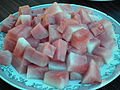 Water melon pieces in a plate.JPG