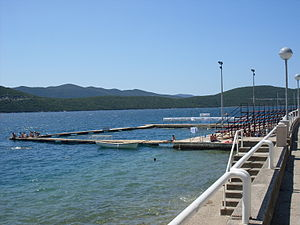 Bosnia and Herzegovina men's national water polo team - Image: Water polo court in Neum