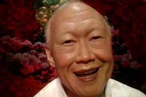 Madame Tussauds Singapore - A waxwork sculpture of former Prime Minister of Singapore, Lee Kuan Yew, at Madame Tussauds Singapore