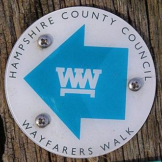 Wayfarer's Walk - Wayfarer's Walk waymarker