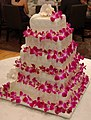 Wedding Cake with Pink Flowers.jpg