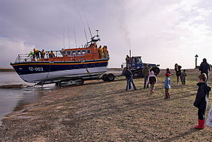 Mersey-class lifeboat - Image: Wells Next The Sea Lifeboat Coming Home