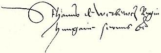 István Werbőczy - Image: Werbőczy István signature