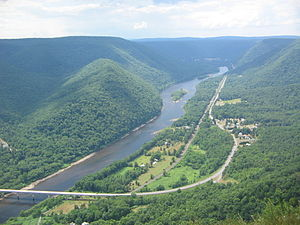 West Branch Susquehanna River - West Branch Susquehanna from Hyner View State Park in Clinton County, Pennsylvania