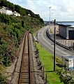 West Wales Line railway towards Fishguard Harbour station - geograph.org.uk - 4603897.jpg