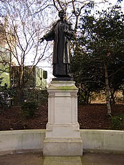 Statue of Emmeline Pankhurst in Victoria Tower Gardens next to the Houses of Parliament, Westminster. (January 2006)