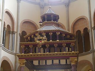 The badalchin of the main altar.