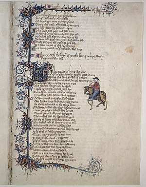 English words first attested in Chaucer - Image: Wife of Bath ms