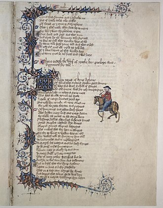 Fleuron (typography) - Image: Wife of Bath ms