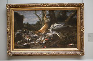 Landscape with hunting