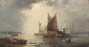 William Anslow Thornley - Unloading the boats.jpg
