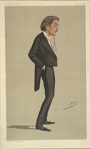 "William Bromley-Davenport (British Army officer) - ""Macclesfield"". Caricature of Bromley-Davenport by Spy published in Vanity Fair in 1888."