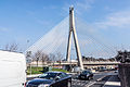 William Dargan Bridge, opened in 2004, is a cable-stayed bridge in Dundrum.jpg