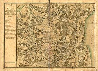 History of Williamsburg, Virginia - Map of Williamsburg from the American Revolutionary War