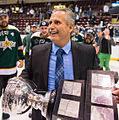 Willie Desjardins with Calder Cup 06-17-2014.jpg
