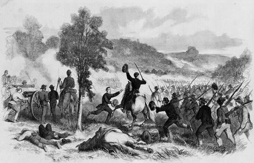 Wilson's Creek charge of 1st Iowa