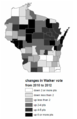 Wisconsin Governor Recall 2010 vs 2012.png