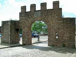 The Wishart Arch is the only surviving part of the city walls