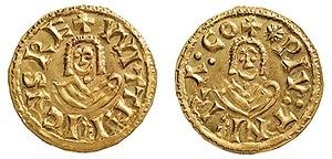 Witteric - Tremissis minted in Tarraco during his reign.