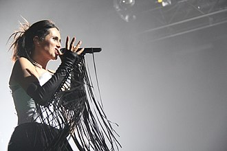 Hydra (Within Temptation album) - Lead vocalist Sharon den Adel at the Club Nokia, Los Angeles, during the North American leg of the Hydra World Tour