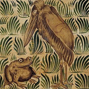 The Frogs Who Desired a King - Image: Wm de Morgan stork