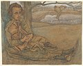Woman and Child Resting, a Man Working in the Field Beyond MET DP827887.jpg