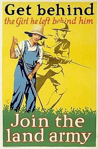 Women's Land Army - First World War poster