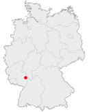 Location of Worms in Germany