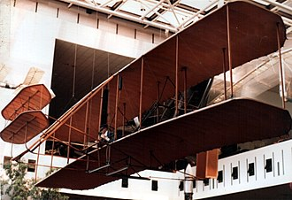 Wright Flyer - The Flyer I as it appeared in 1982 before restoration. Compare with 1995 image after restoration below.