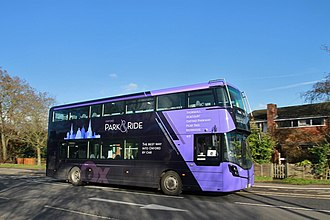 Oxford Bus Company - Image: Wright Street Deck SK66 HUU Oxford Banbury Rd