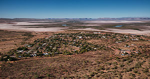 Wyndham, Western Australia - The town of Wyndham, looking towards the south with the King River and Cockburn Range in the distance.