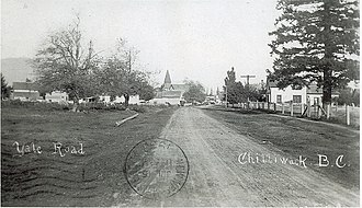 Chilliwack - Yale Road Chilliwack circa 1908 Site of City Hall museum