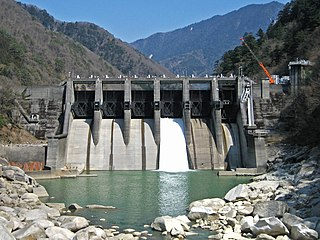 Yamaguchi Dam (Nagano) Dam in Nagano Prefecture, Japan