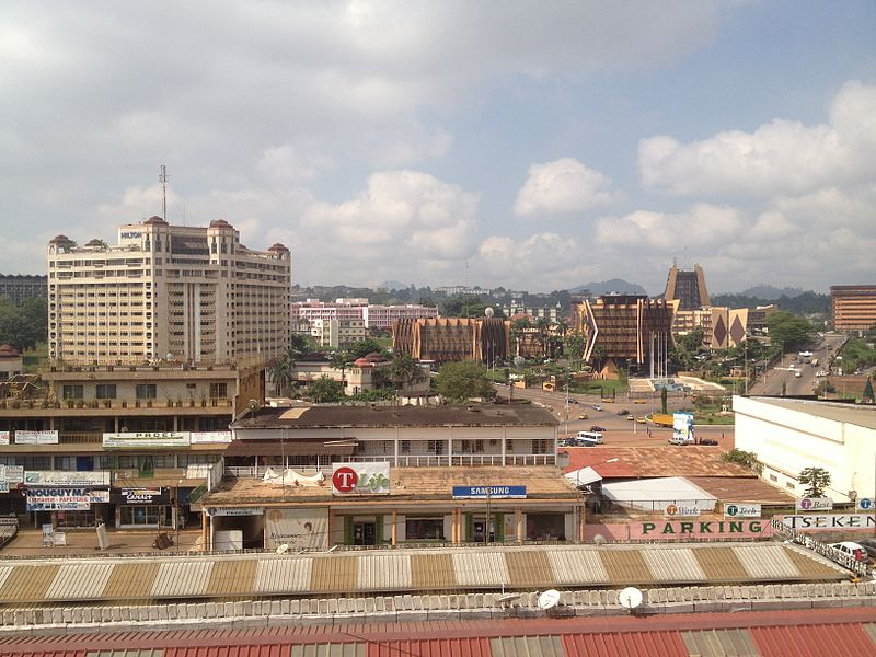 Yaoundé view from central market (2014).JPG
