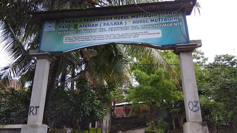 File:Yayasan pondok pesantren nurul muttaqin wakan desa wakan lombok timur.jpg