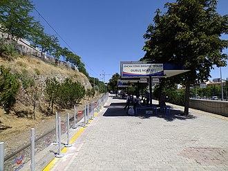 Yenişehir railway station - Looking east in 2013, before reconstruction.