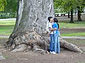 Young Couple Smooches in a Public Park - Cordoba - Argentina.jpg