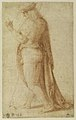Young Man Standing in Profile Facing Left (recto); Sketch of Two Capitals (verso) MET DR413.jpg