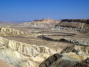 English: The Zin Valley in the Negev Desert of...