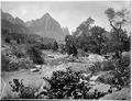 "Zion's Peak, Rio Virgin, Utah. Old No. 92. ""The Watchman, Zion National Park - R.T. Evans"" This is - NARA - 517748.tif"