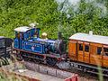 """""""Bluebell"""" departing Horstead Keynes with train of 4-wheelers (9131763712).jpg"""
