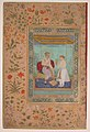 """Jahangir and His Vizier, I'timad al-Daula"", Folio from the Shah Jahan Album MET sf55-121-10-23a.jpg"