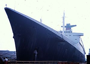 SS France (1961) - SS France being converted into SS Norway in Bremerhaven, 1979.