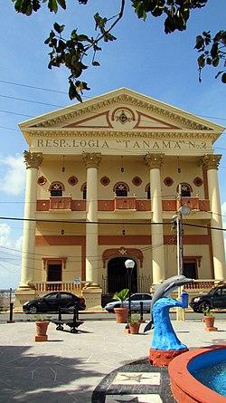Verantwortliches Logia Tanamá-Gebäude in Arecibo