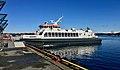 """""""Tranen"""" (Norled's catamaran ferry, 2006) at Nattrutekaien, Leirvik, Stord 2018-03-13.jpg"""